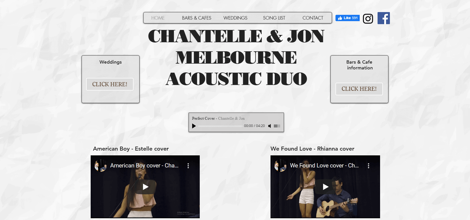 chantelle & jon melbourne acoustic duo