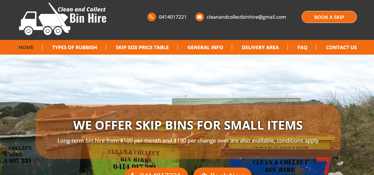 clean and collect bin hire