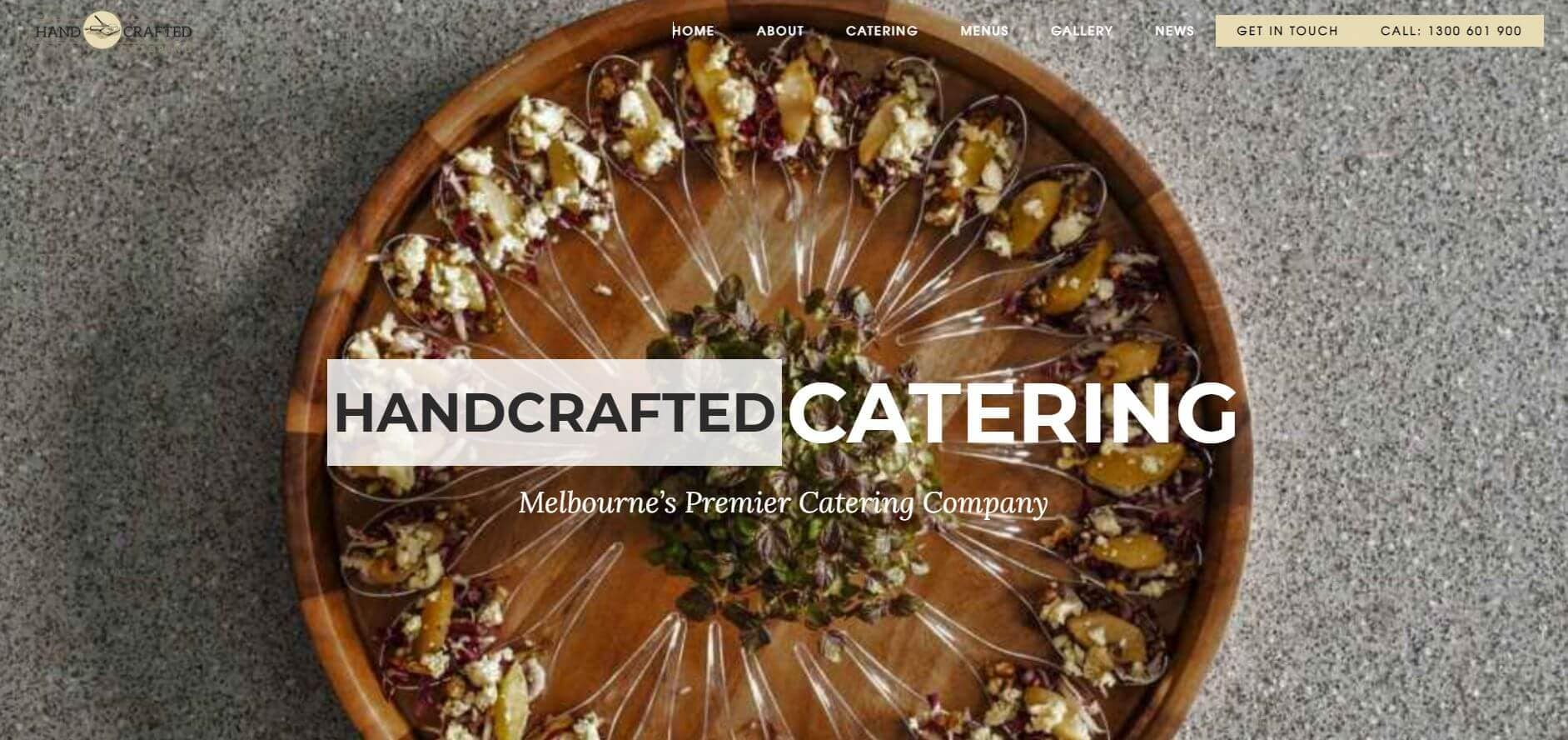 handcrafted catering