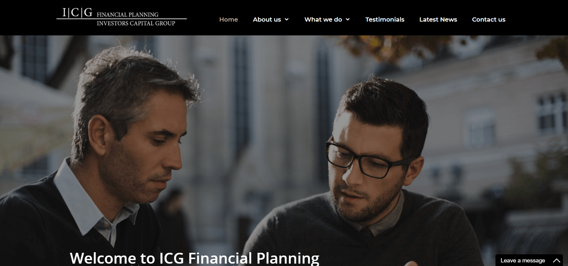 icg financial planning