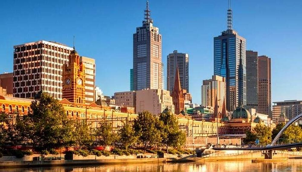 City of Melbourne in Summer