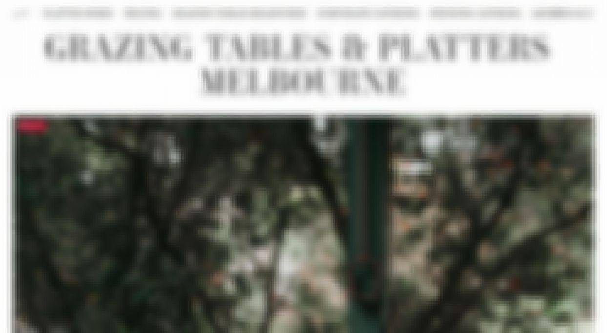 plentiful catering grazing table melbourne
