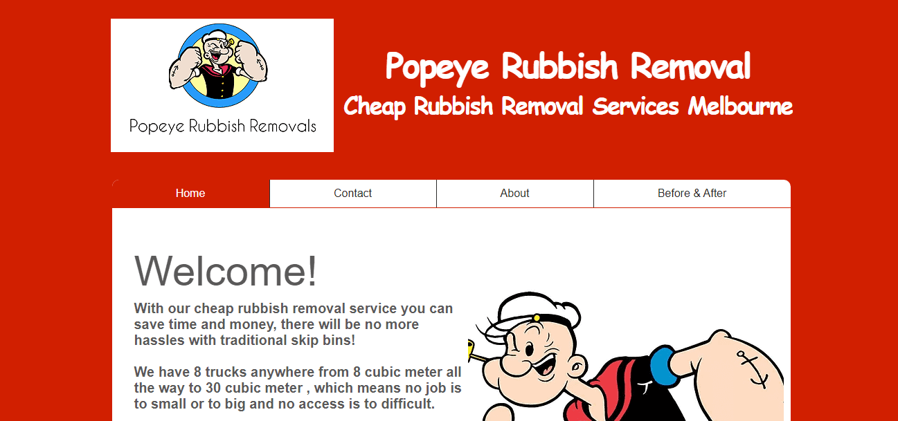 popeye rubbish removals