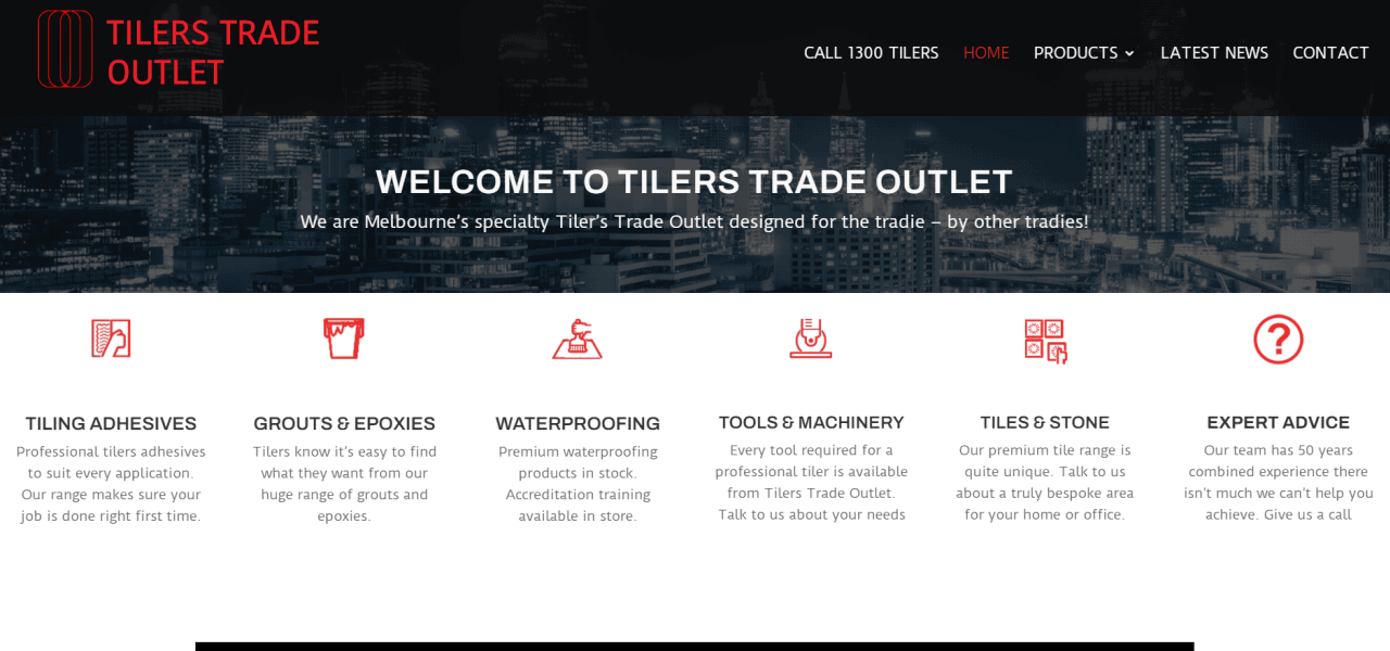 tilers trade outlet