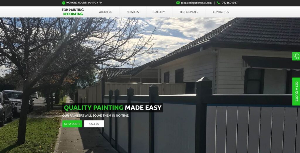 top painting decorating