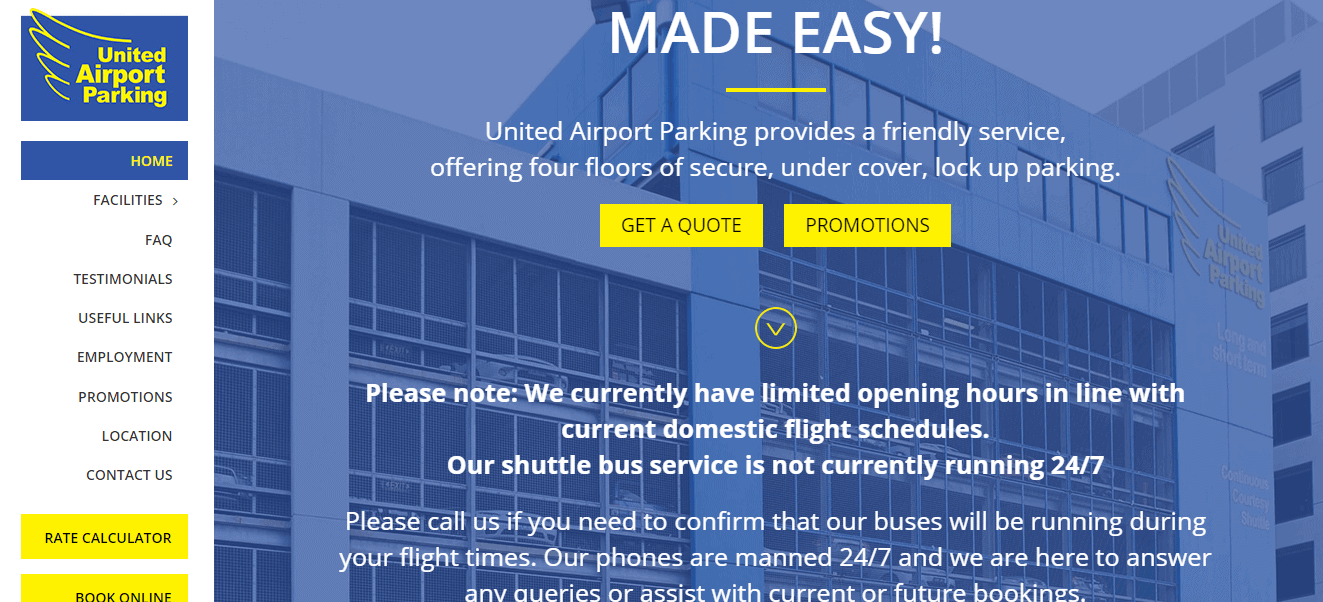 united airport parking